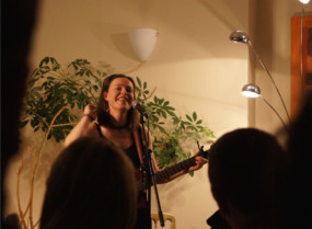 Musician Amy Duncan performed a set at Loud and Clears audio emporium